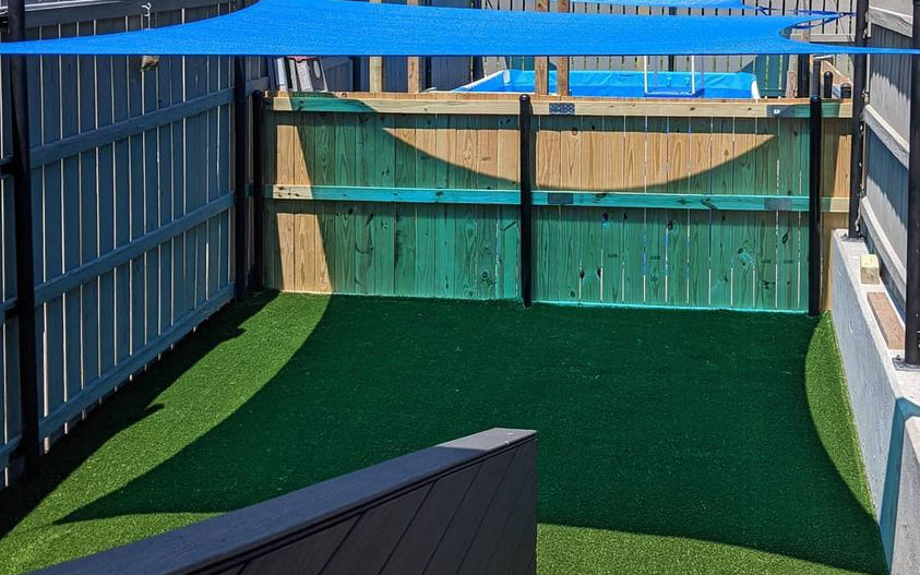 Our Outside Play Area In The Dog House